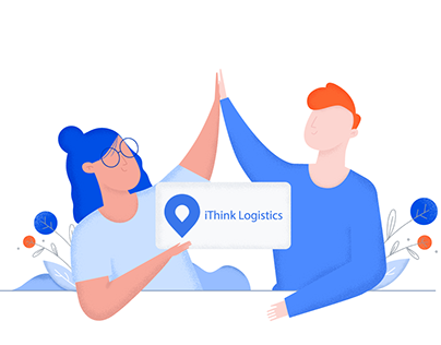 Illustrations on the site for a logistics company