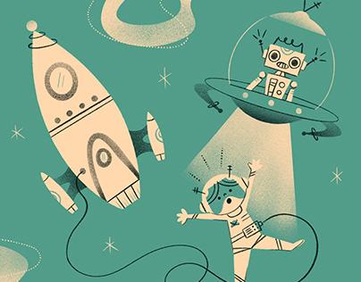 Retro Futuristic - Vintage Astronaut