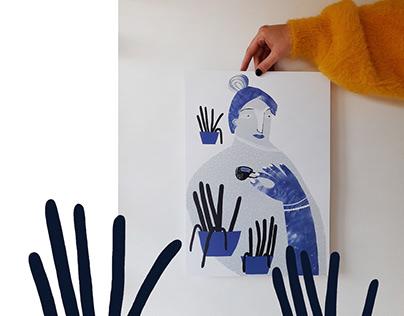 BLUE TEA   illustration