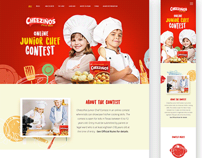 Junior Food Cooking Contest - Landing Page