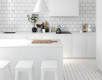 Ultra White Kitchen