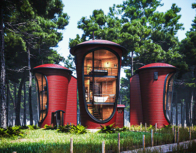 Cylinder shaped houses by Bartu Armağan (bar2design)