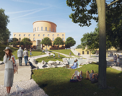 Stockholm Library // CGI