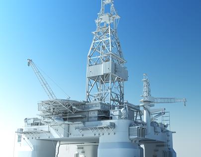 Ocean Valor Oil Rig Platform