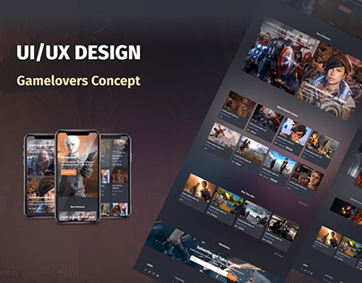"""Gamelovers"" Portal UI/UX Design"
