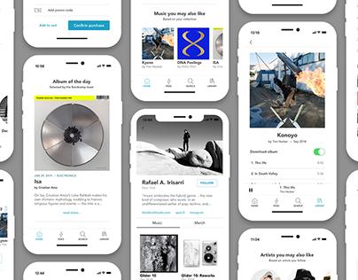 Bandcamp - iOS App Redesign