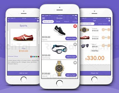Online Shopping App UX UI design