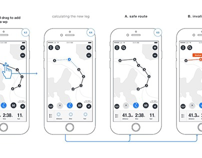 Routing App Wireframes