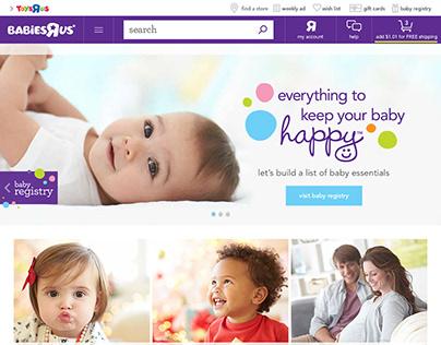 "Babies""R""Us - Webpage Design"
