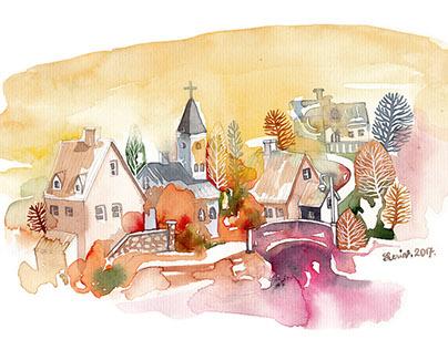 Watercolors sketch