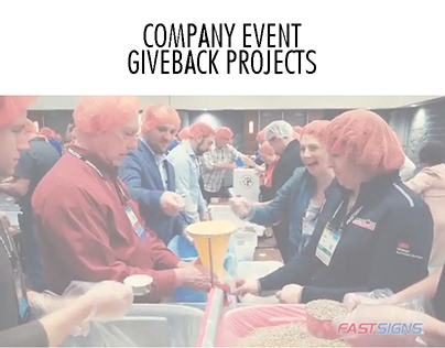 COMPANY EVENT GIVEBACK PROJECTS