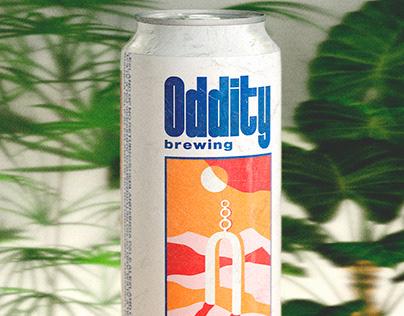 ODDITY BREWING - LABEL ART