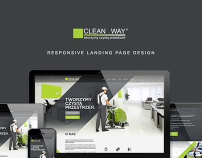CleanWay: responsive landing page design