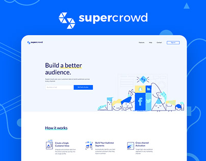 Supercrowd – UI\UX for Swedish Marketing Company