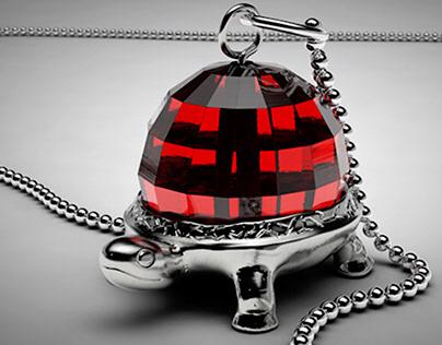 Turtle Necklace CGI