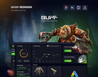 BUFF I UI/UX design for gaming loyalty app