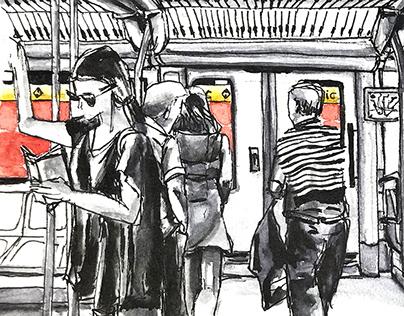 Barcelona's Metro sketch