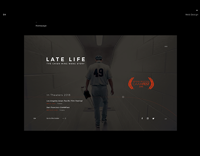 LATE LIFE - Website Design