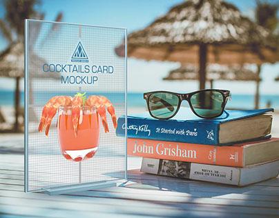Cocktail card Mockup