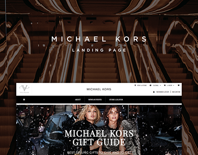 Michael Kors Gift Guide 2017 Landing Page