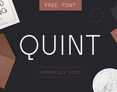 Quint Uppercase Free Font