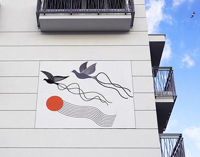 'PIGEONS' mural art / 2020