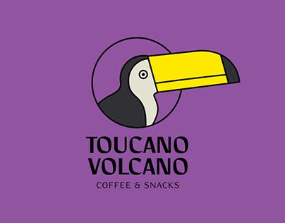 Toucano Volcano Coffee Shop Identity