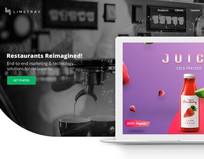 Limetray Complete Website Revamp.