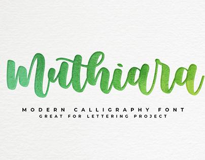 Muthiara -calligraphy font-