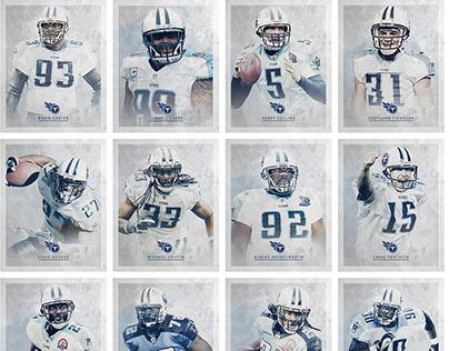 Tennessee Titans Pro Bowl Portraits
