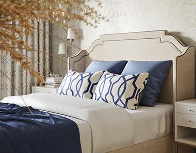 Visualization of bedroom (blue flat)