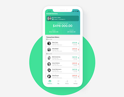 UI/UX Design - Salary Payment Application