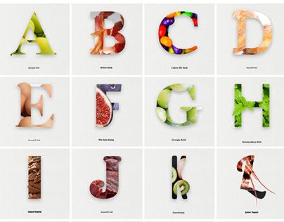 TASTY ALPHABET | food & type