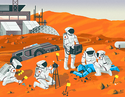 The Atlantic & Longreads / Mars Illustrations