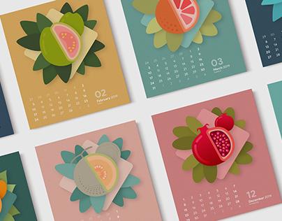 Fruit of the Month Calendar