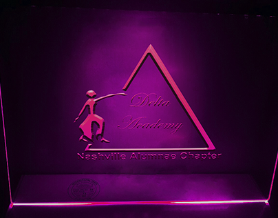 2d and 3d logo mock up in glass with neon light