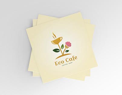 Eco Café Coffee Shop Logo For Sale.