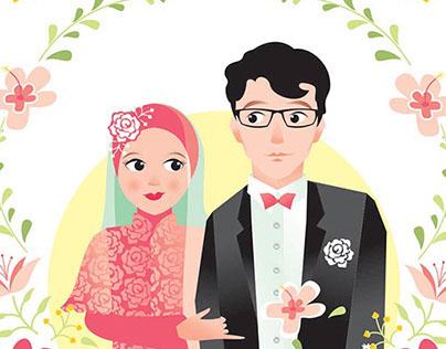 Wedding Invitation : Bening & Agung