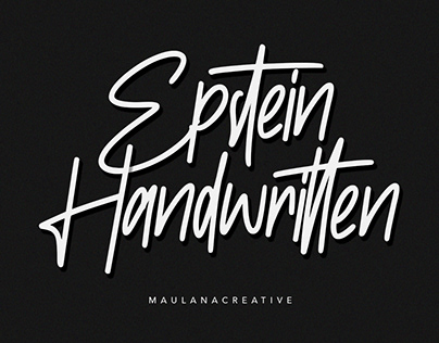 Epstein Signature Handwritten Handmade Font