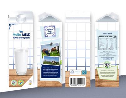 Melk verpakking design