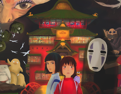 Spirited away / Cover design, Illustrated poster class