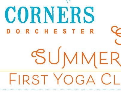Four Corner Yoga Summer Flyer + Newspaper Ad
