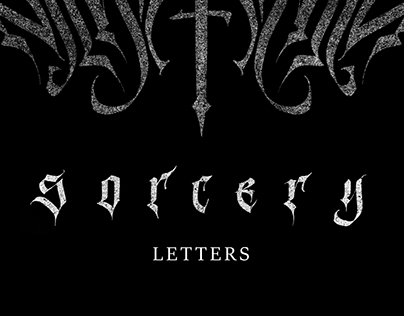 «SORCERY LETTERS» Modern Gothic Calligraphy Vol.3