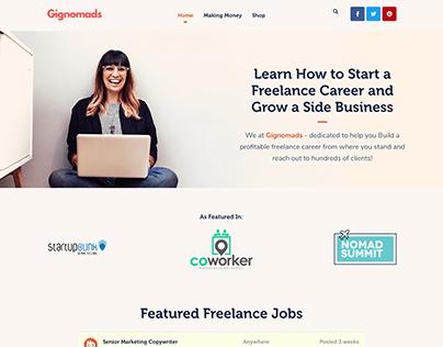 Gignomads.com Platform - Freelance Career Growth
