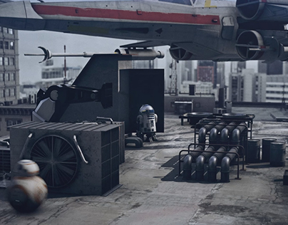 STARWARS AFTER FX realistic demo sequence