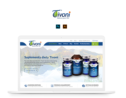 Tivoni - website and advertising design