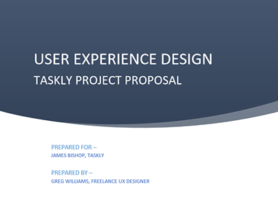 Project Proposal - Taskly