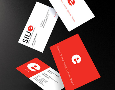 Business Card Designs for SIUE