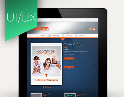 GEWISS App Storefront UI/UX