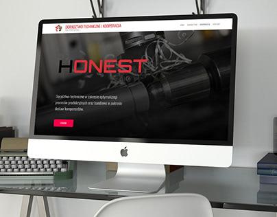 Honest - Strona internetowa